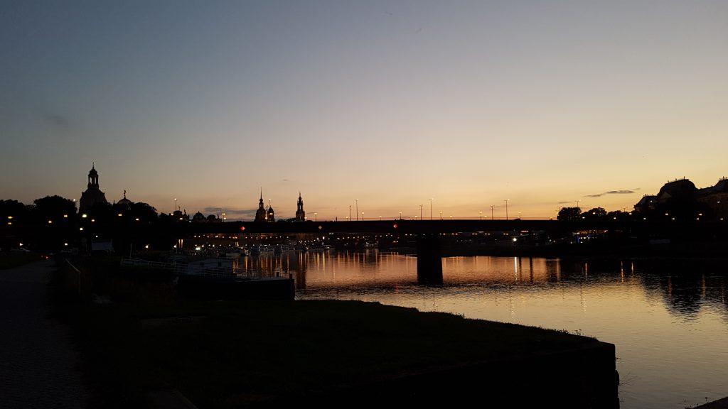Sonnenuntergang in Dresden